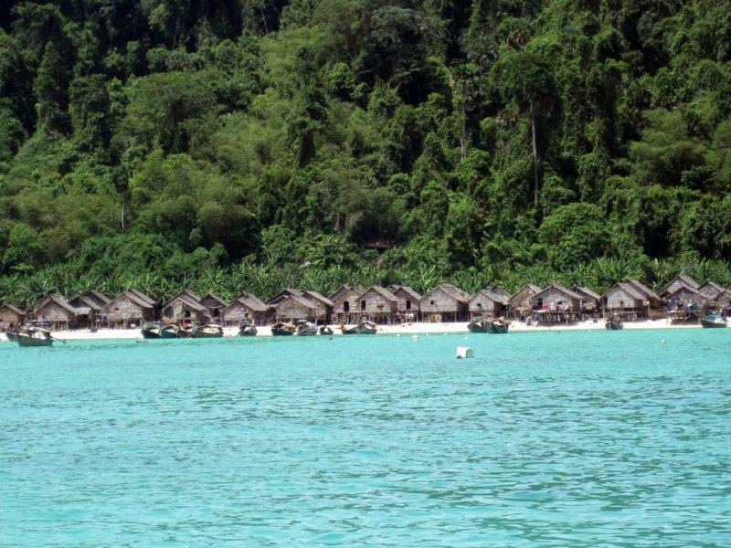 Moken village at the Surin Islands