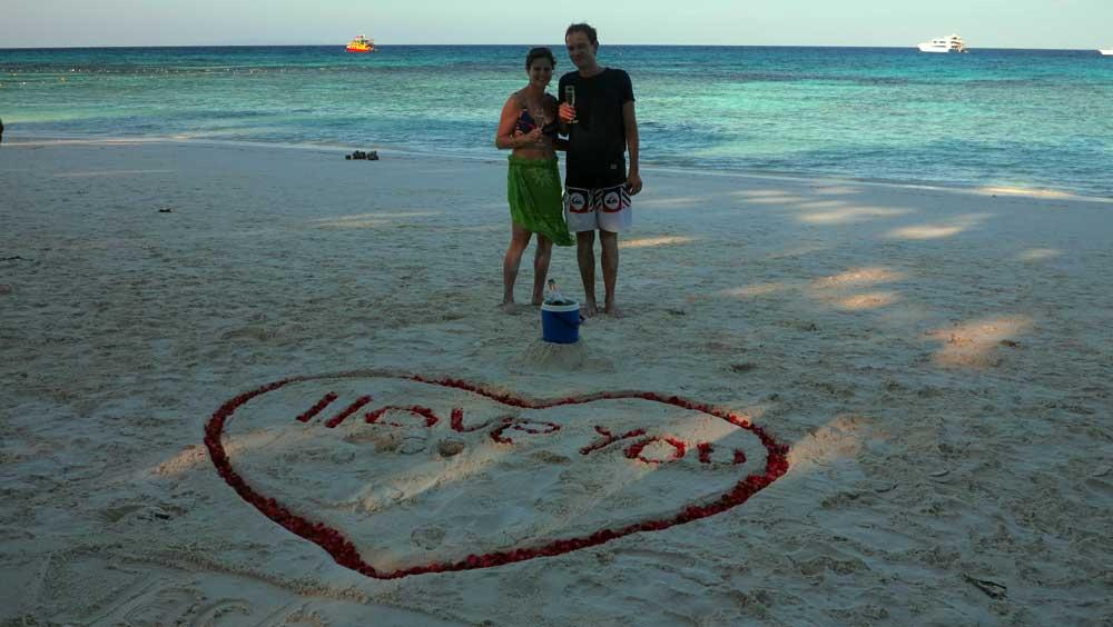 Celebrating love at Koh Tachai