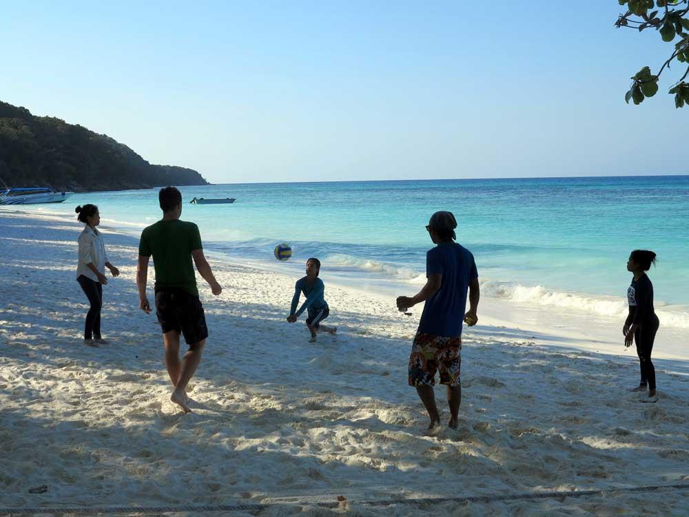 fun on Koh Tachai Beach