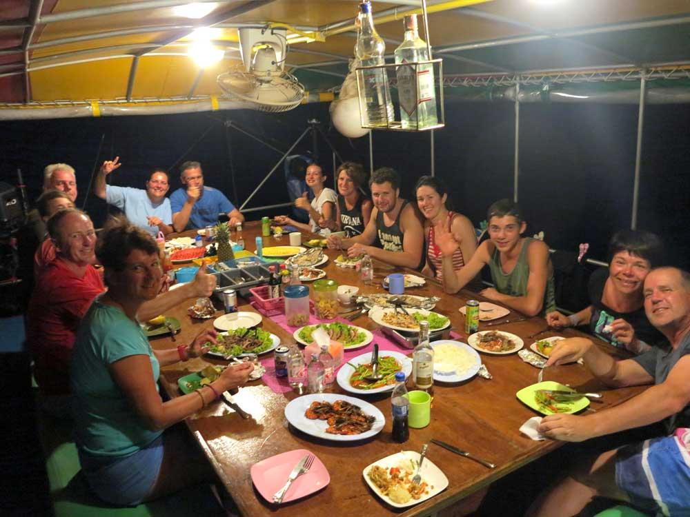 Evening dinner on the Reggae Queen