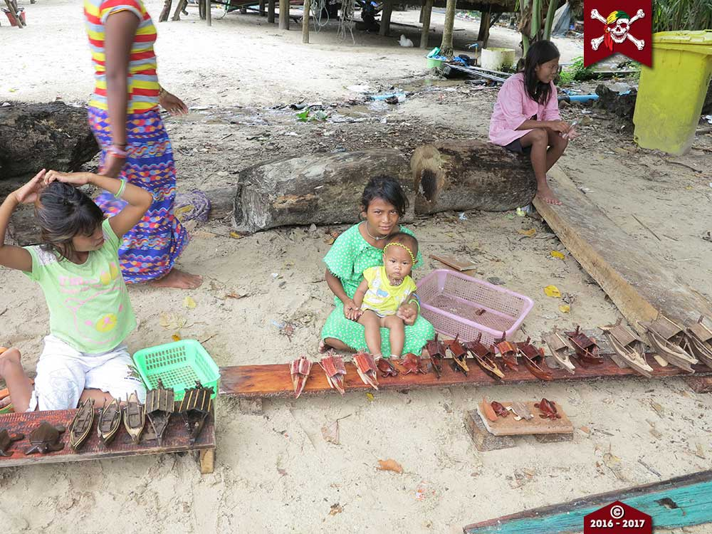 Moken kids and their wares on the Surin Islands