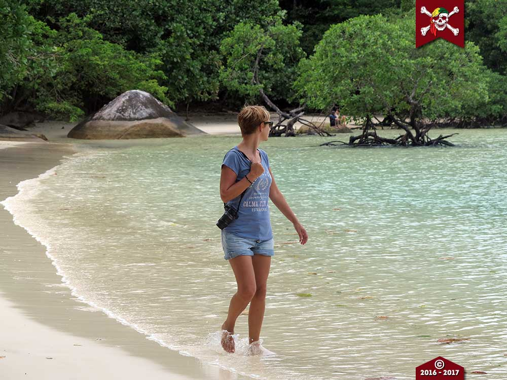 Walking on the beach at the Surin Islands