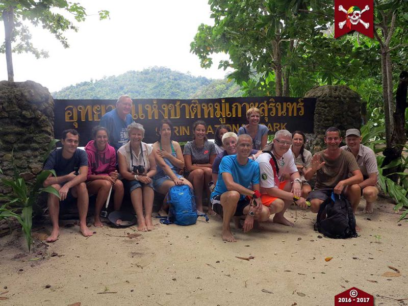 Group photo at the Surin Islands