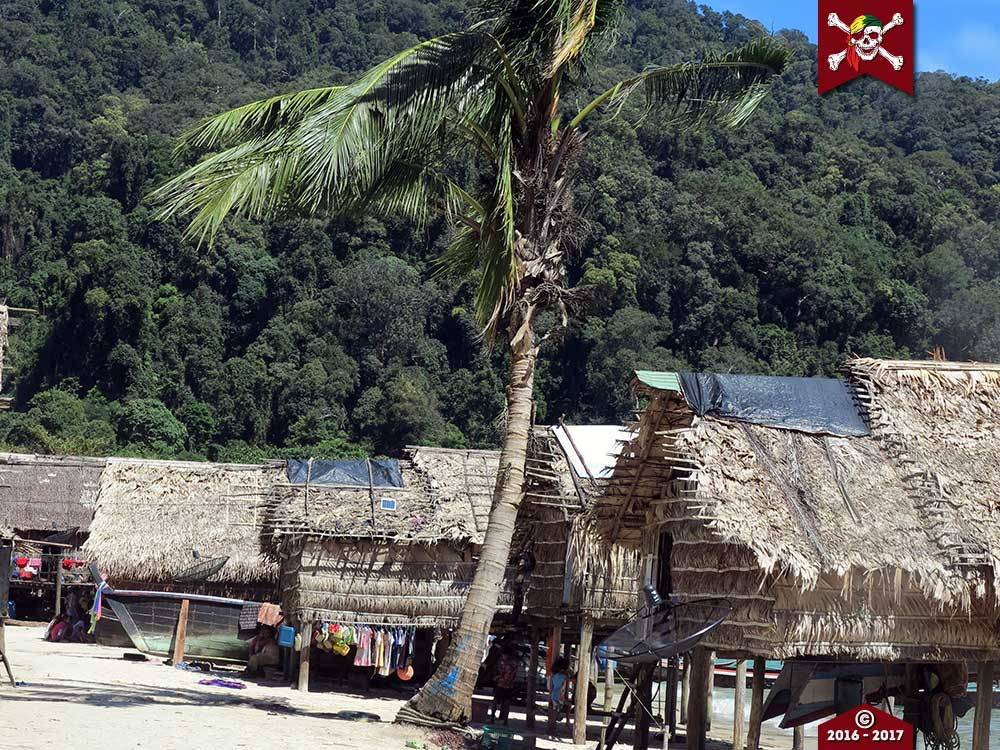 Moken village at Surin Island