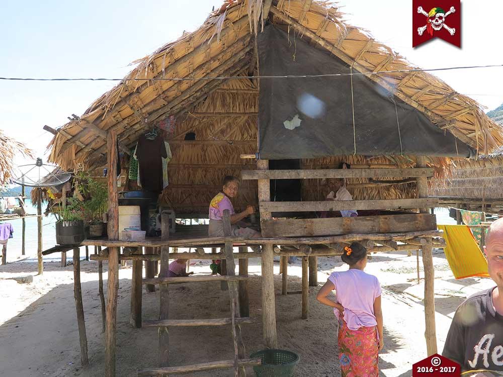 Moken house on Surin