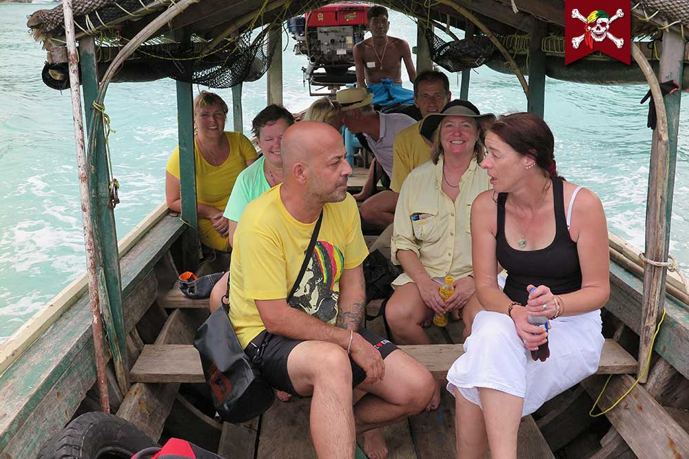 On the Longtail boat at Surin