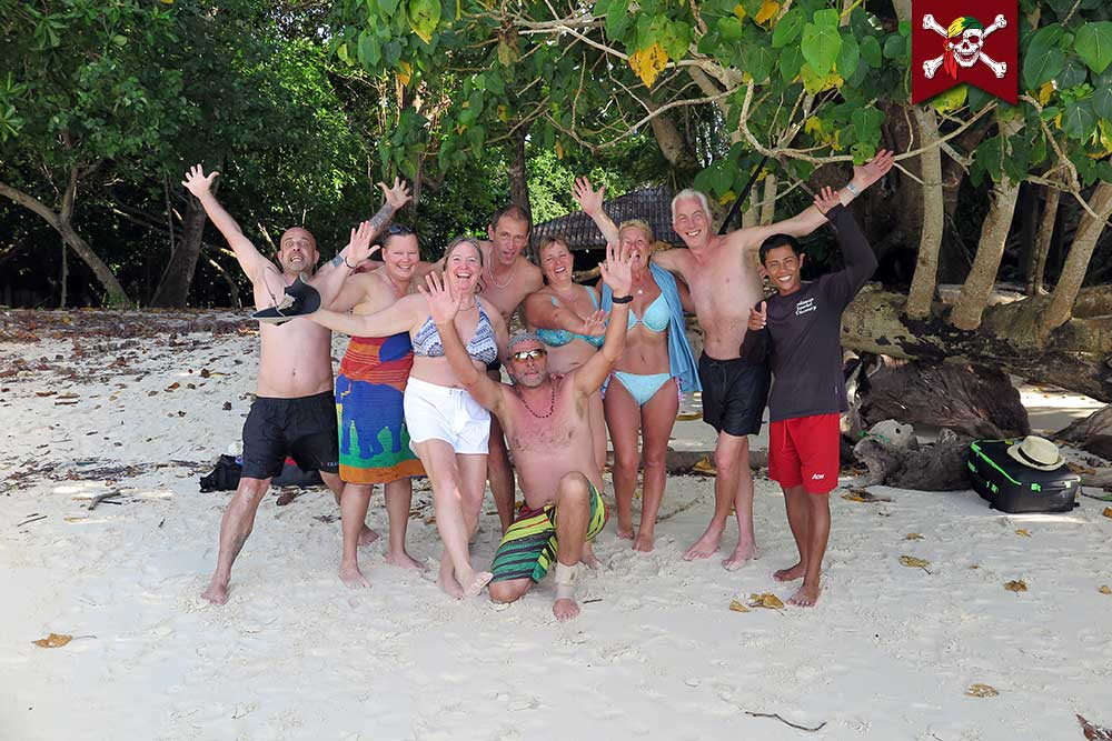 Group photo on the Surin Islands